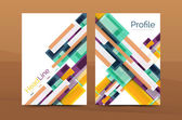 Set of abstract lines backgrounds - business templates