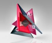 """Постер, картина, фотообои """"Вектор абстрактный фон 3d треугольник"""""""