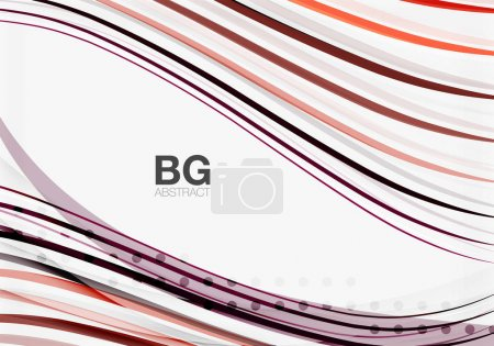 Colorful vector stripes on grey