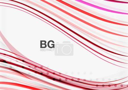 Thin lines wave abstract background