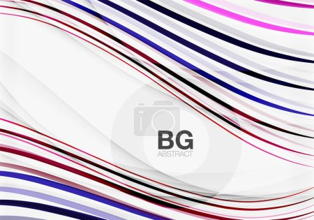 Wave lines abstract background
