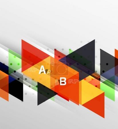 Vector minimalistic triangle design