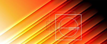 Illustration for Rainbow fluid gradient background with abstract lines. Colorful geometric background pattern. Vector Illustration For Wallpaper, Banner, Background, Card, Book Illustration, landing page - Royalty Free Image