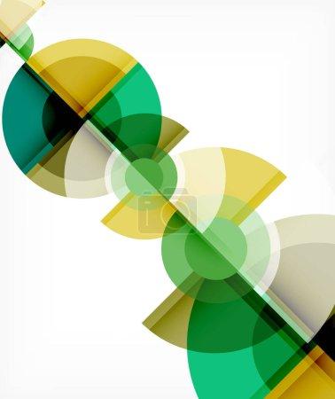 Foto de Formas redondas abstractas de fondo, círculo y triángulo que se superponen entre sí. plantilla de moda geométrica. Ilustración de vectores para fondos de escritorio, banca, fondo, tarjeta, ilustración de libros, aterrizaje. - Imagen libre de derechos