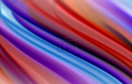 Foto de Fondo abstracto - ondas de gradiente fluidas de color, con un efecto dinámico en la línea de movimiento. Ilustración de vectores para fondos de escritorio, banca, fondo, tarjeta, ilustración de libros, página de destino. - Imagen libre de derechos