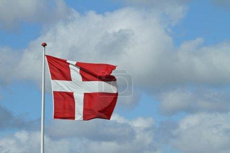 Waving Danish flag