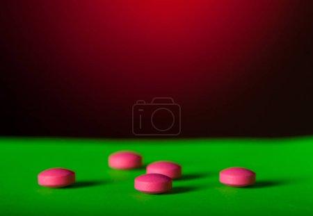Many pink pills