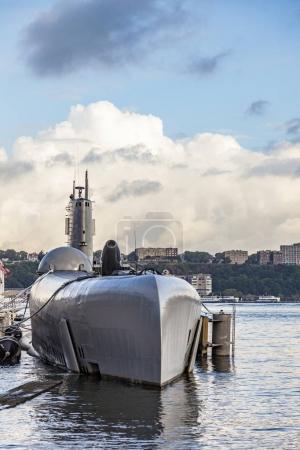 NEW YORK, USA- JUL 9, 2010: submarine at museum pi...