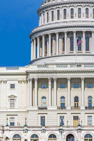 Photo pour Détail de la façade du bâtiment de Capitol, Washington Dc - image libre de droit