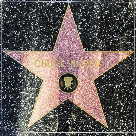 Chuck Norris star on Hollywood