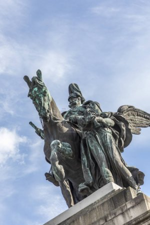equestrian statue of German Emperor William I in German Corner i