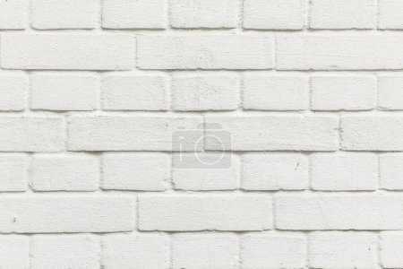 Photo pour Fond harmonique de motif de mur de briques blanches - image libre de droit