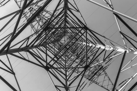 Photo for Impressive electric pylons transporting electricity through high tension cables - Royalty Free Image