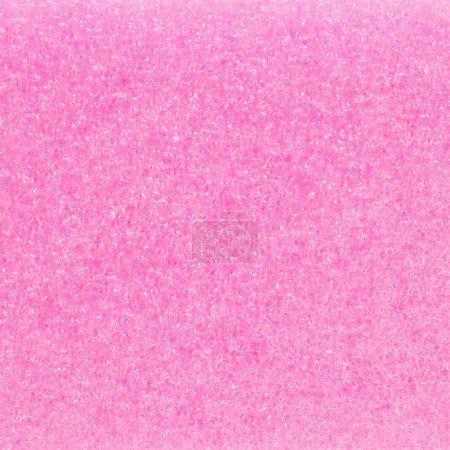 Photo pour Détail du matériau d'emballage en plastique rose isolé sur blanc - image libre de droit