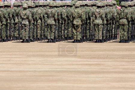 Foto de Soldado japonés en la base militar, fuerzas de autodefensa Japón - Imagen libre de derechos