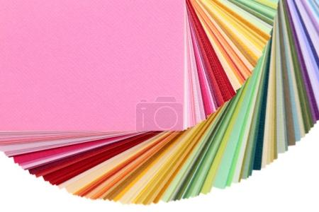 Photo for Color swatches book, rainbow sample color catalog - Royalty Free Image