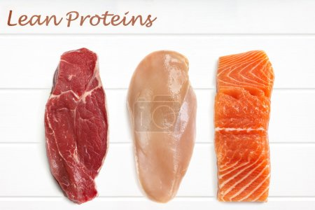 Lean Proteins Food Background