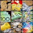 Australian money collection.  Coins and notes....