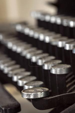 Vintage Typewriter Keys Antique Look Selective Focus