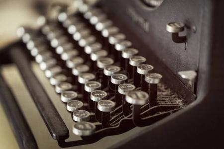 Vintage Typewriter Keys Selective Focus