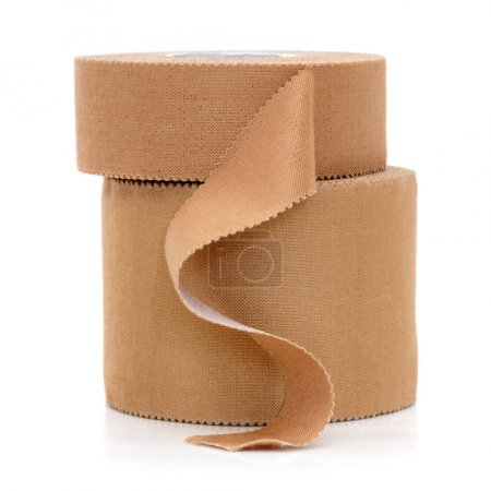Rolls of Physio Strapping Tape Isolated on White