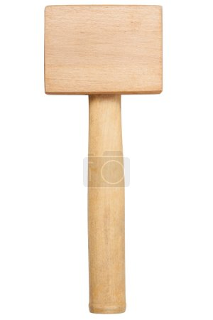 Wooden hammer isolated on white