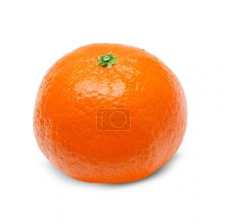 Photo pour Mandarine orange juteuse, isolé sur fond blanc - image libre de droit