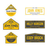 Construction Company Label and Badges Vector