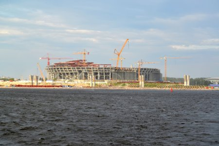 "Construction of stadium for football club ""Zenit"" on the Krestovsky island. St. Petersburg"