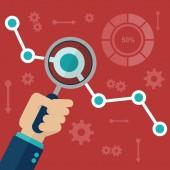 Website statistics icon vector illustration