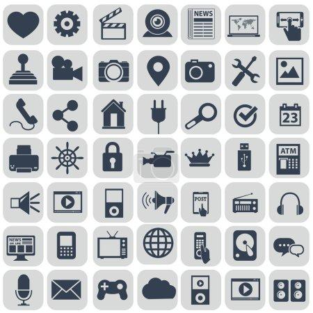 Set of universal icons