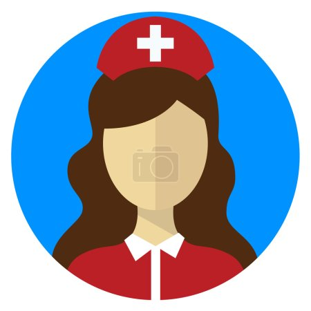 Nurse doctor female icon