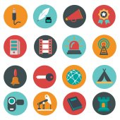 Universal icons set vector illustration