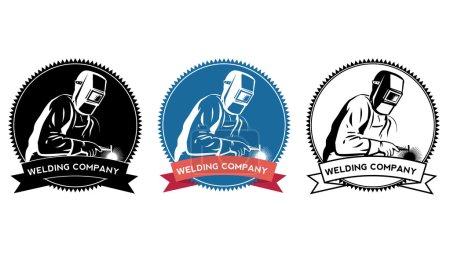 Illustration pour Ensemble logo entreprise de soudage, illustration vectorielle - image libre de droit
