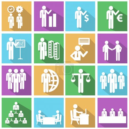 Human resources icons set.