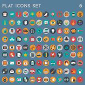 Universal icons set vector illustration