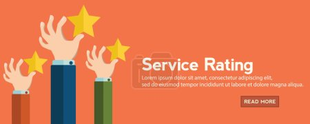 service rating banner
