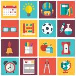 School icons set, vector illustration...