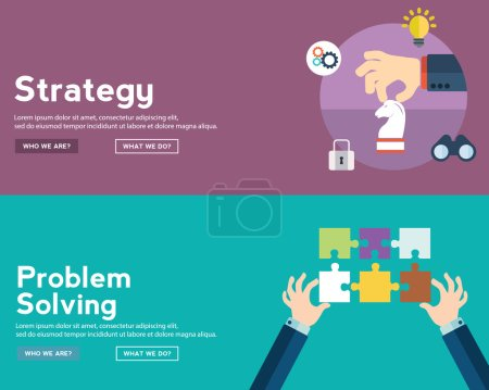 strategy and problem solving banners