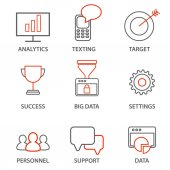 Icons related to business management
