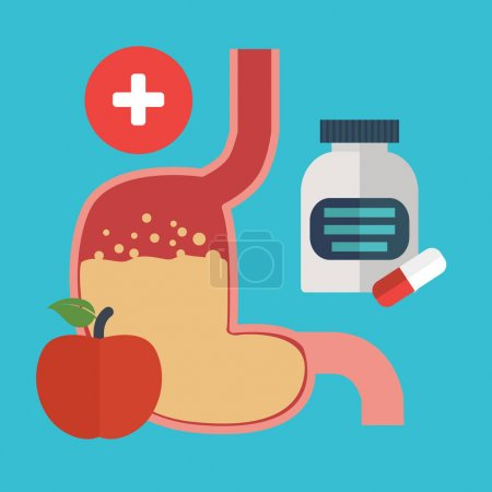 Human Stomach health care concept