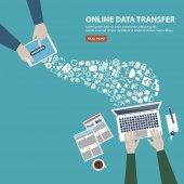 Online data transfer concept