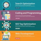 SEO and Development concept web programming Vector