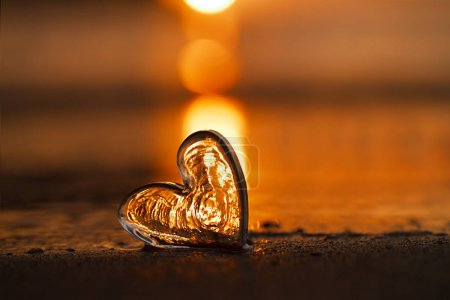 clear glass heart