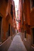 Italy; Venice, 24.02.2017. The narrow street of Venice with hous