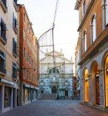 Italy; Venice, 02/25/2017. Venice street with a bridge and the C