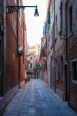 Italy, Venice, February 25, 2017. the street in Venice among the