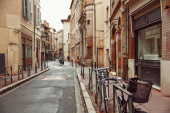 October 10, 2019 Toulouse city in France, the street of the old