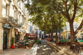 October 7, 2019 Montpellier city in the south of France, a squar