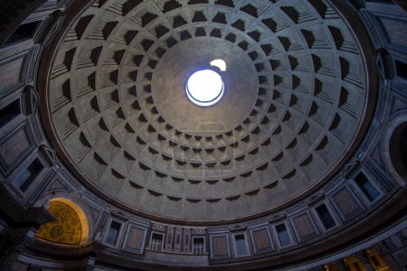 Pantheon with the famous ray of light from the top, Rome